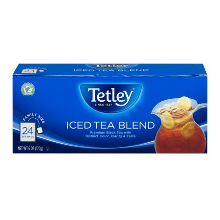 (5 Boxes) Tetley Iced Tea Blend Square Tea Bags 24 ct Box