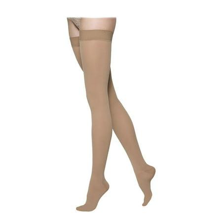 4b064d147 Sigvaris - 862 Select Comfort Closed Toe Thigh Highs w  Grip Band - 20-30  mmHg Petite Sig862N-W - Walmart.com