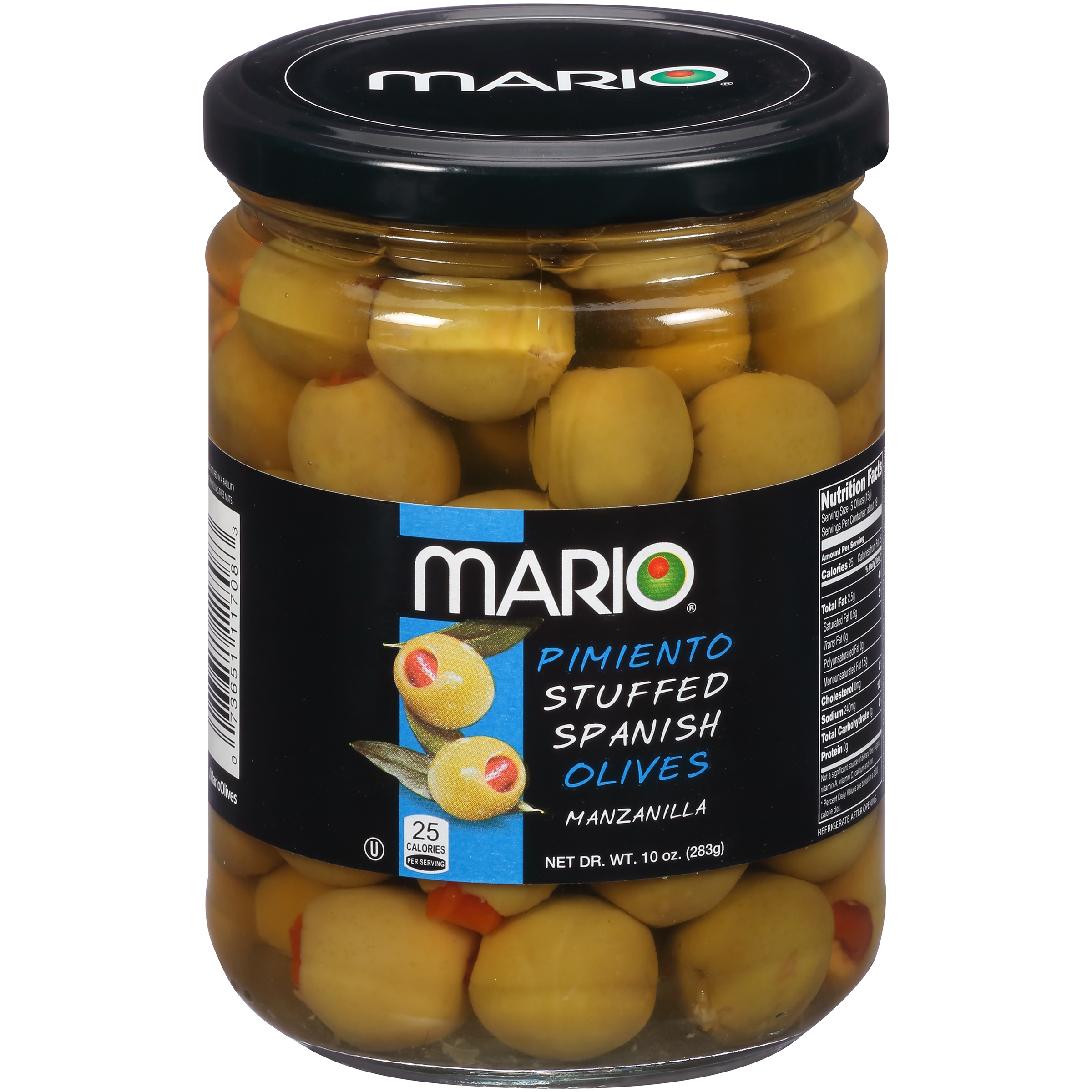 (2 Pack) Mario® Pimiento Stuffed Spanish Manzanilla Olives 10 oz. Jar