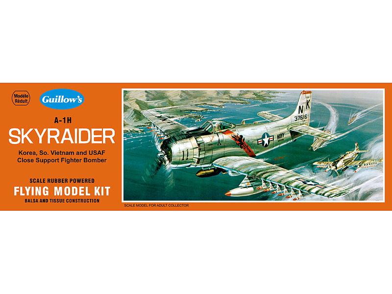 Balsa Wood Model Airplane Kit, Korea, Guillow's Douglas A-1H Skyraider GUI-904 by Guillow's