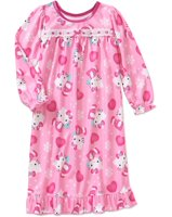 3ba0642973 Hello Kitty Baby Girls 12m-4t Flannel Granny Style Nightgown Pajama