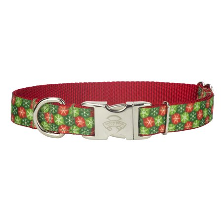 Country Brook Design® Premium Christmas Wish Ribbon Dog Collar Dog Pet Christmas Ribbon Collar