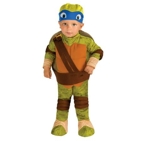 Teenage Mutant Ninja Turtles Toddler Boys Leonardo Costume with 3D Shell 2T-4T