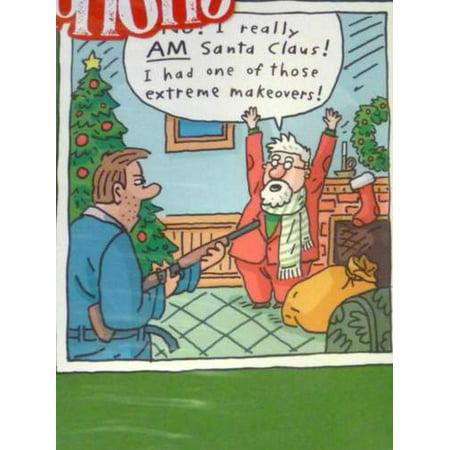 HoHoHO Funny Santa Claus Extreme Makeover Christmas Cards