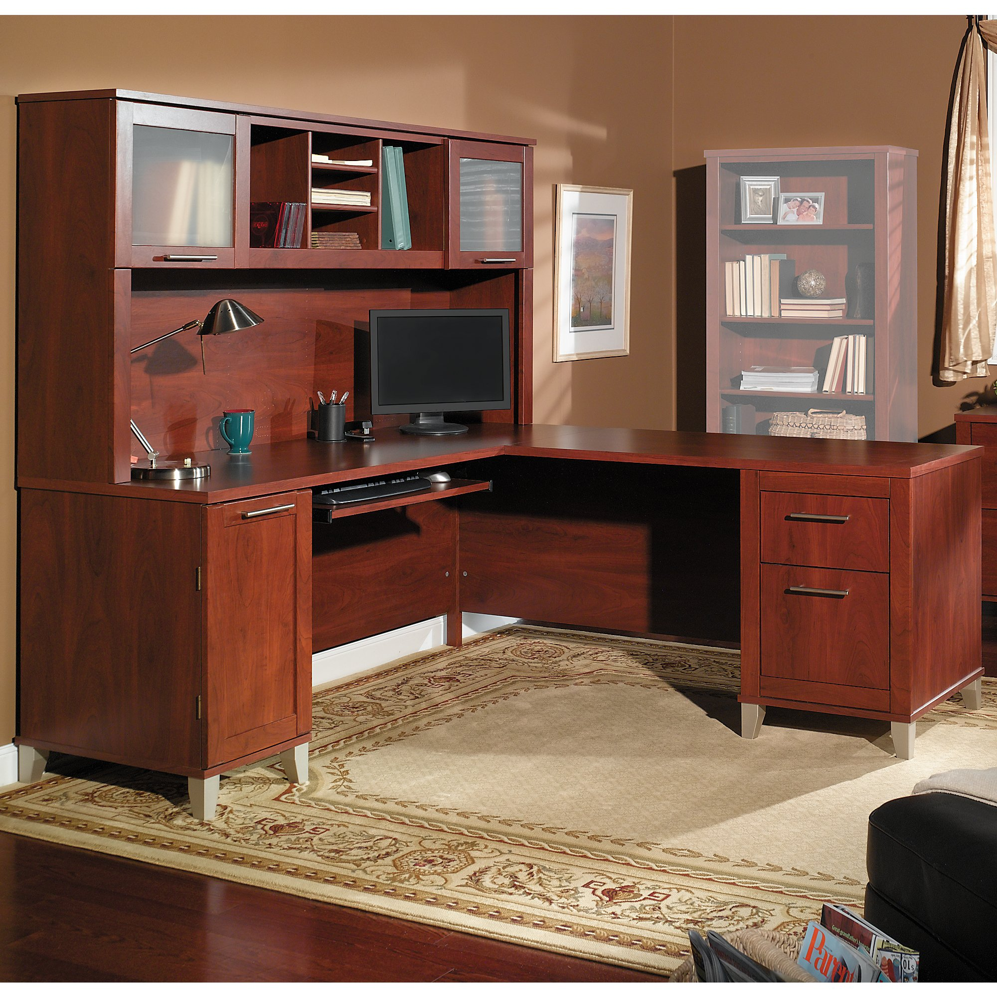 Bush Furniture Somerset 71W L Shaped Desk with Hutch