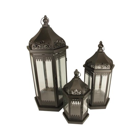 Miraculous Set Of 3 Black French Country Garden Floral Pillar Candle Holder Lanterns 28 5 Download Free Architecture Designs Scobabritishbridgeorg