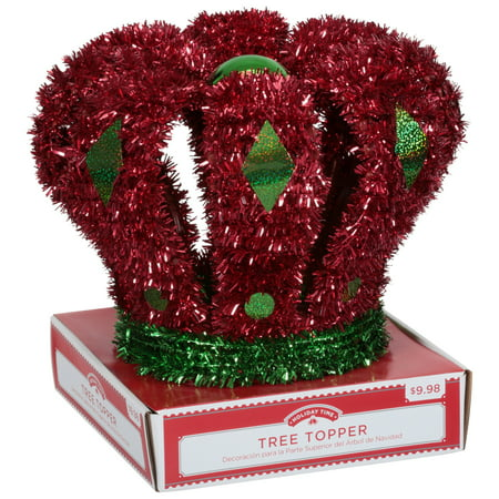 Holiday Time 3D Crown Tree Topper