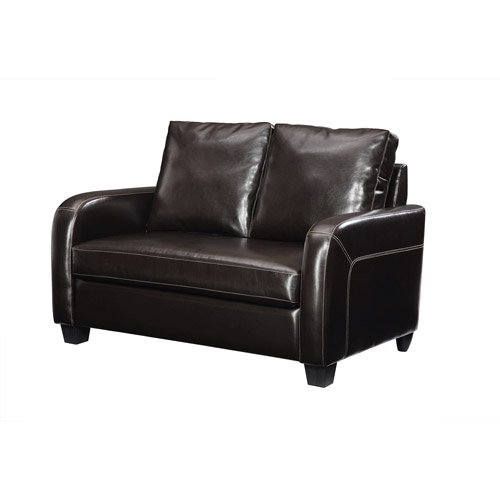 Dorel Home Twin Sleeper Sofa, Espresso Faux Leather