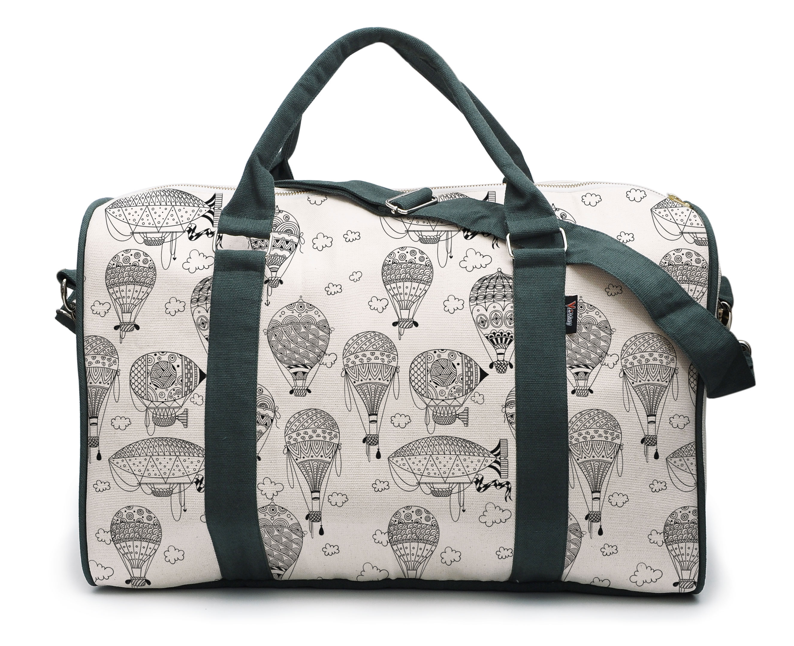 Watercolor Balloons Printed Oversized Canvas Duffle Luggage Travel Bag WAS_42 by Vietsbay