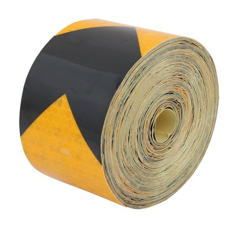 3 Meter Reflective Tape - Unique Bargains 10Meter Length 5cm Wide Honeycomb Adhesive Reflective Warning Tape Yellow Black