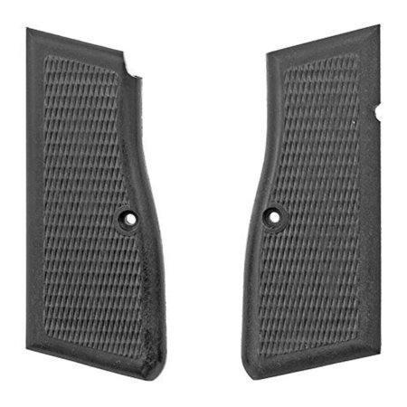Gun Parts Kassnar PJK-9HP / Browning Hi-Power Grips, Black Plastic, Checkered, New black plastic grips with checkering. By
