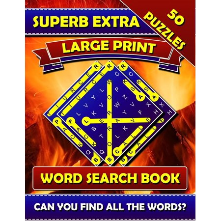 Superb Extra Large Print Word Search Books: Big Font Books for Seniors. Find a Word Puzzles for Adults Large Print. (Paperback)(Large - Halloween Font Illustrator