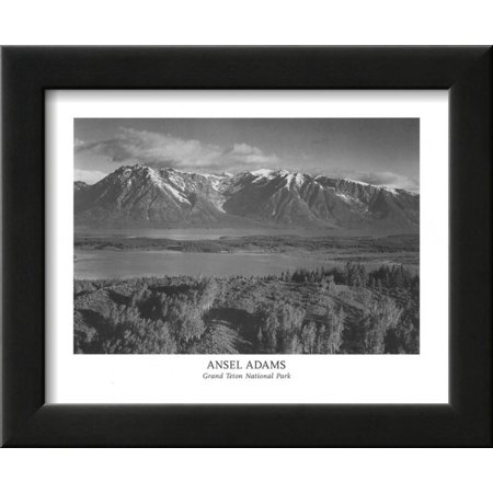 Grand Teton National Park Framed Art Print Wall Art  By Ansel Adams - 12x10 (Grand Teton National Park Framed)