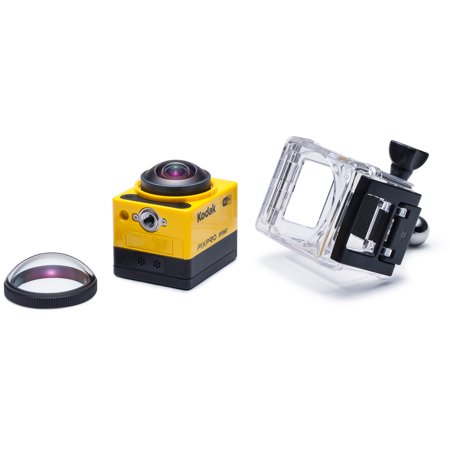 Kodak Pixpro Sp360 Action Camcorder With 1  Status Lcd And Electronic Image Stabilization Includes Explorer Accessory Pack