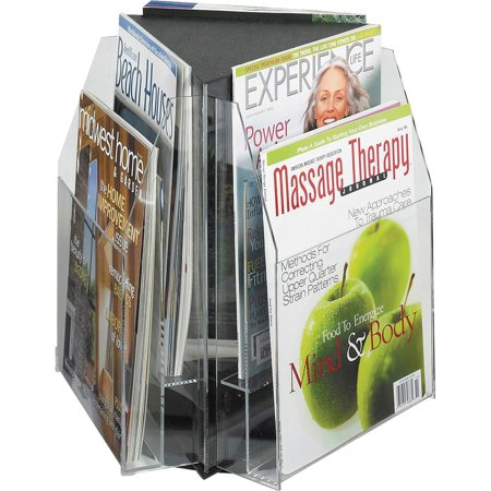 Safco, SAF5698CL, Reveal 2-tier Tabletop Magazine Display, 1 / Each, (Magazine Literature Display)