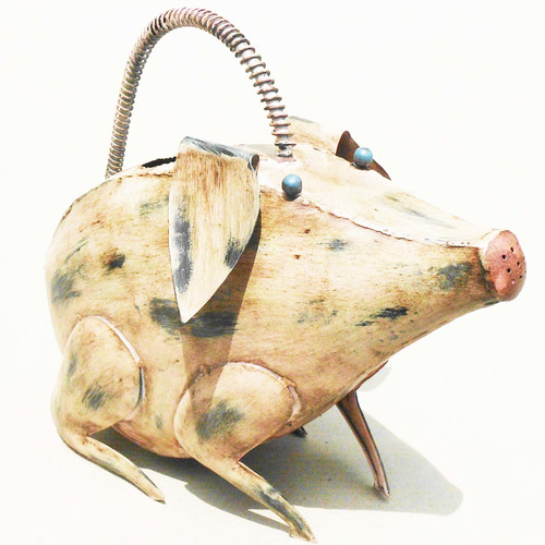 D-Art Collection Iron Pig Watering Can by D-Art Collection