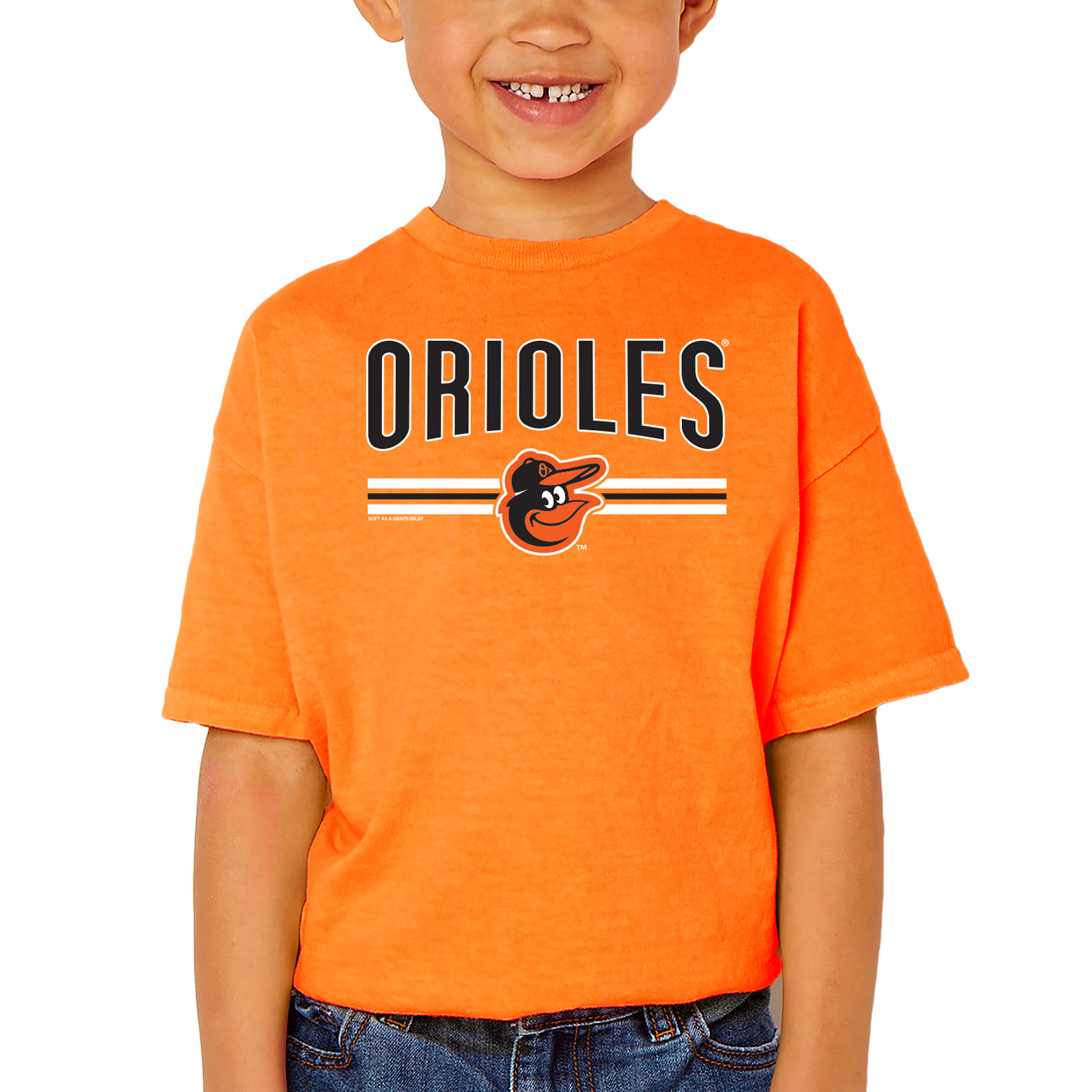 Baltimore Orioles Soft as a Grape Youth On Base Crew T-Shirt - Orange