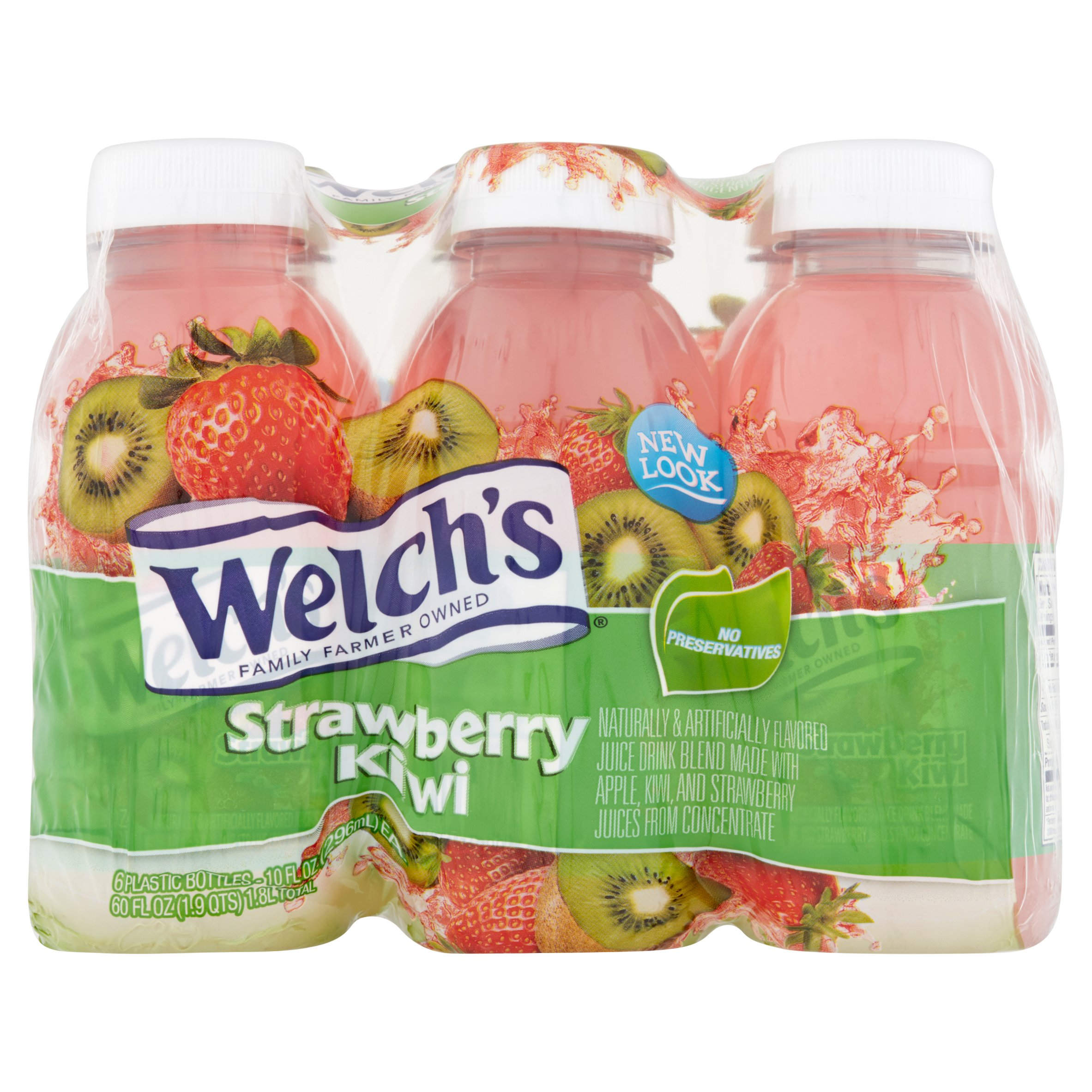 Welch's Juice, Strawberry Kiwi, 10 Fl Oz, 6 Count
