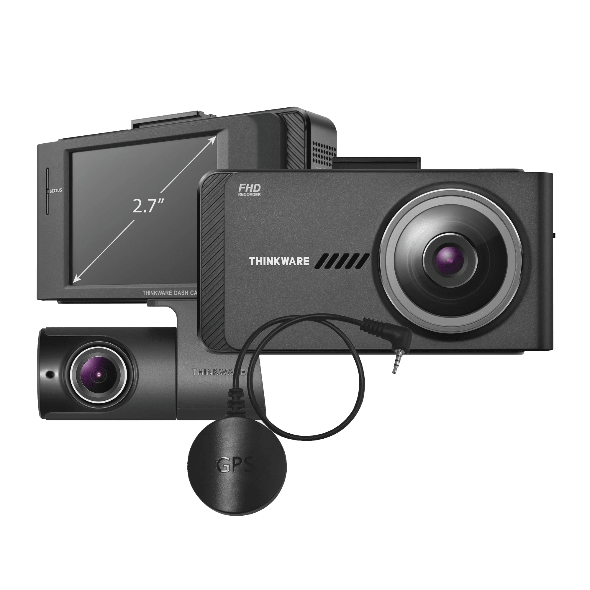 Car Camera w//Sony Sensor GPS Night Vision 1440P WiFi Loop Recording THINKWARE Q800PRO Dual Dash Cam Front and Rear Camera for Cars Parking Mode Dashboard Camera Recorder with G-Sensor 32GB