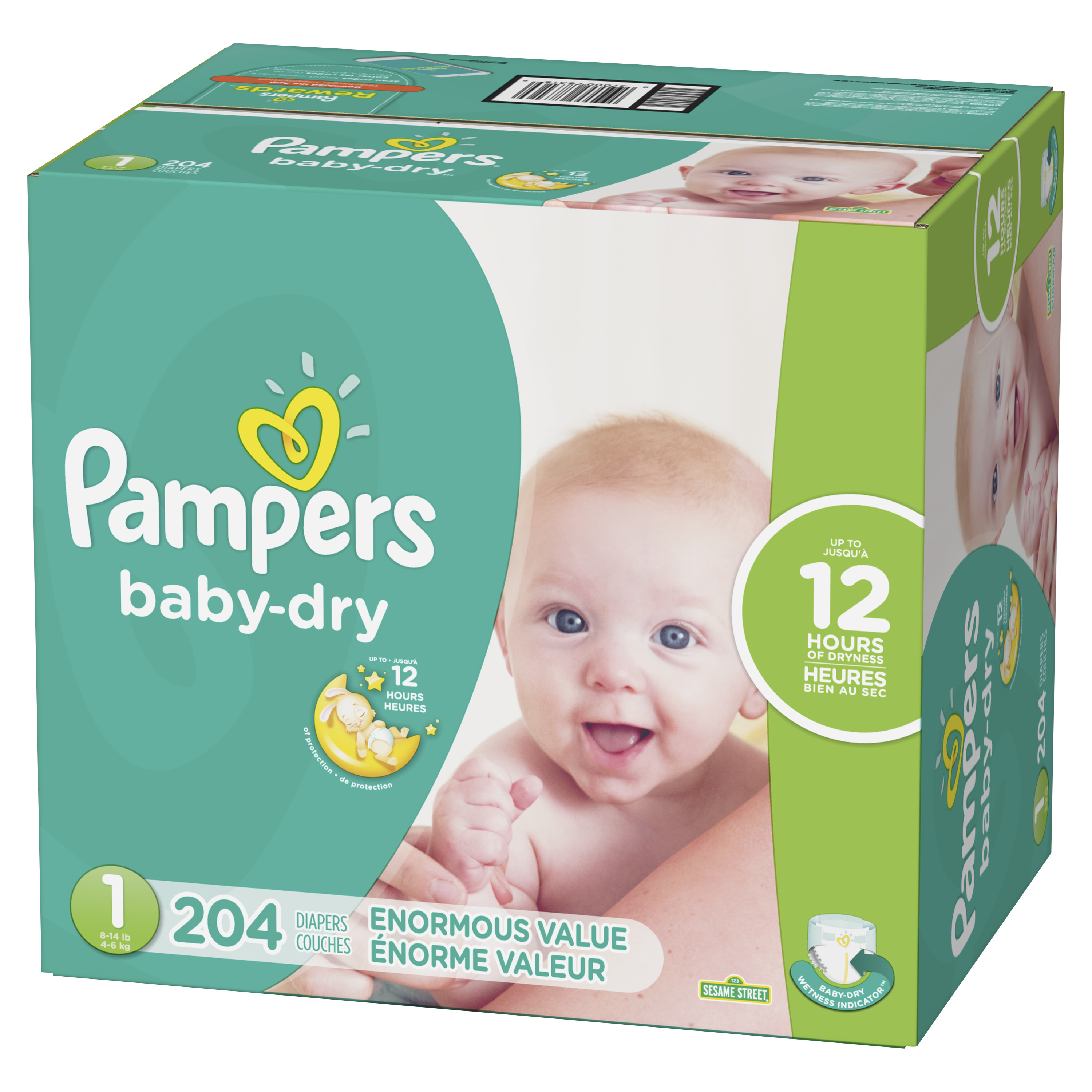 8-14lbs Baby Wipes Pampers Pure Protection Disposable Diapers Size 1
