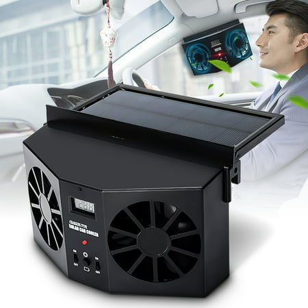 Solar Power Car Auto Vehicle Front /Rear Window Air Vent Exhaust Fan Ventilation