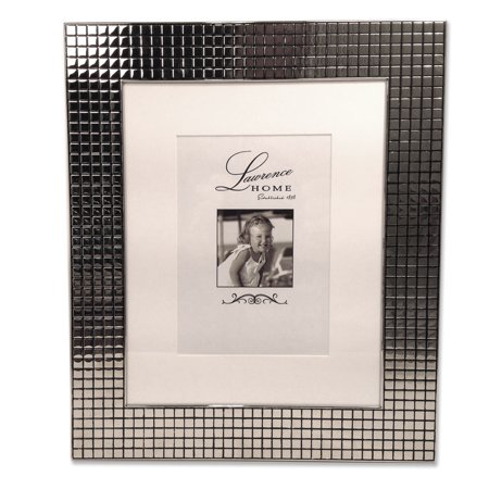Hollywood Photo Frame (710580 Hollywood Silver Metal Squares 5x7 Matted for 5x7 Picture)