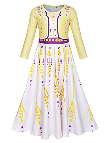 AmzBarley Girls Princess Dress up Halloween Cosplay Fancy Role Play Outfit Holiday Carnival Costumes