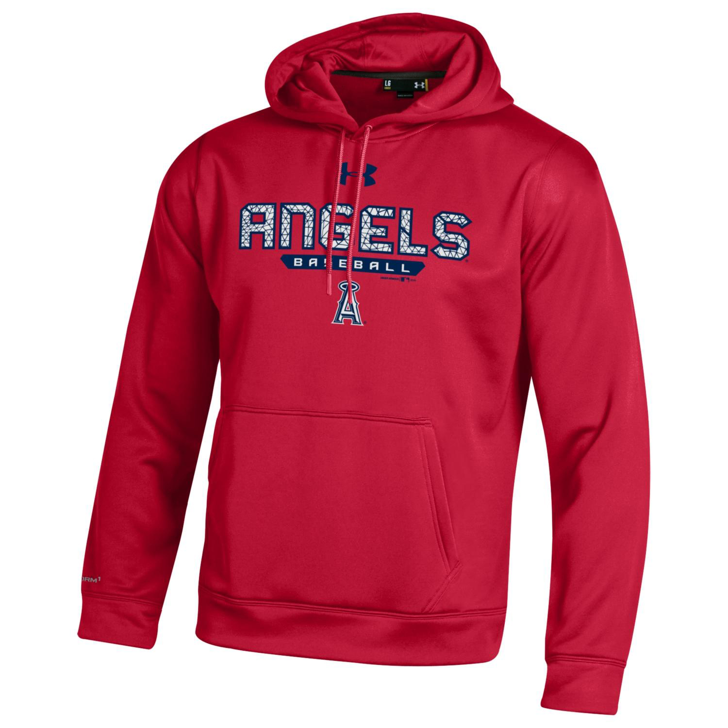 Los Angeles Angels Under Armour Pullover Hoodie - Red