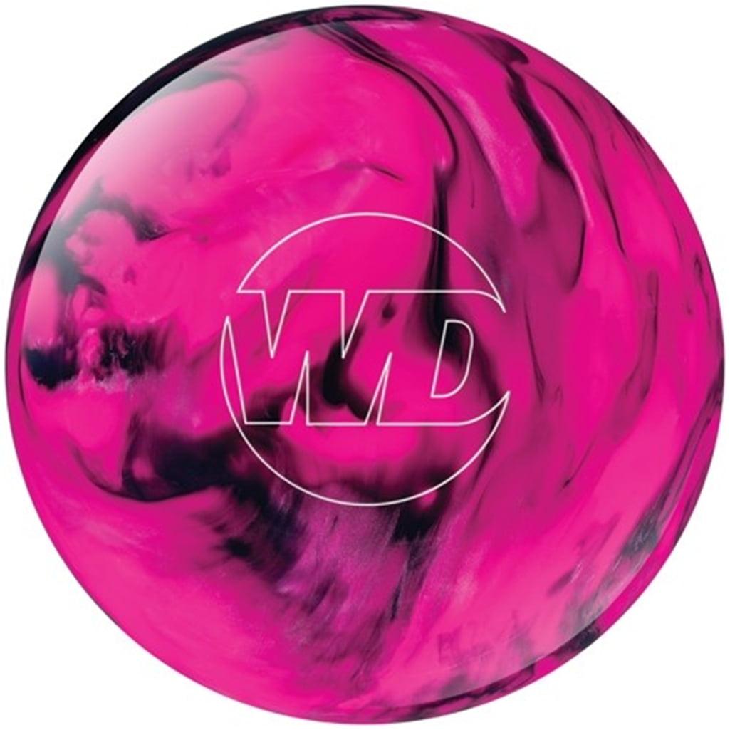 White Dot Bowling Ball- Pink/Black- 10 lbs