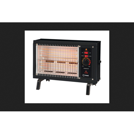 Soleil electric radiant heater thermostat black for Electric radiant heat thermostat