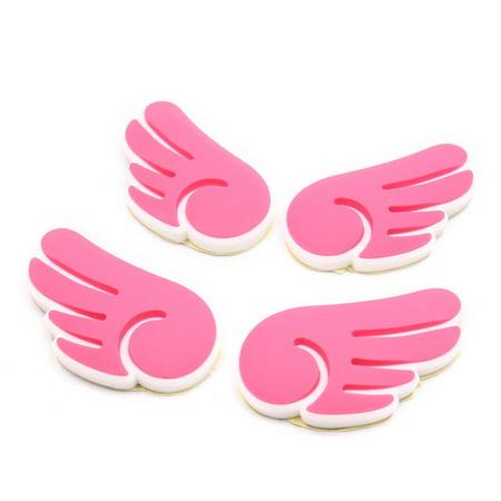4Pcs Pink Lovely Wing Pattern Car Body Self-adhesive Sticker Decorative |  Walmart Canada
