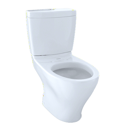 TOTO® Aquia® Two-Piece Elongated Dual-Max®, Dual Flush 1.6 and 0.9 GPF Universal Height Skirted Toilet, Cotton White -