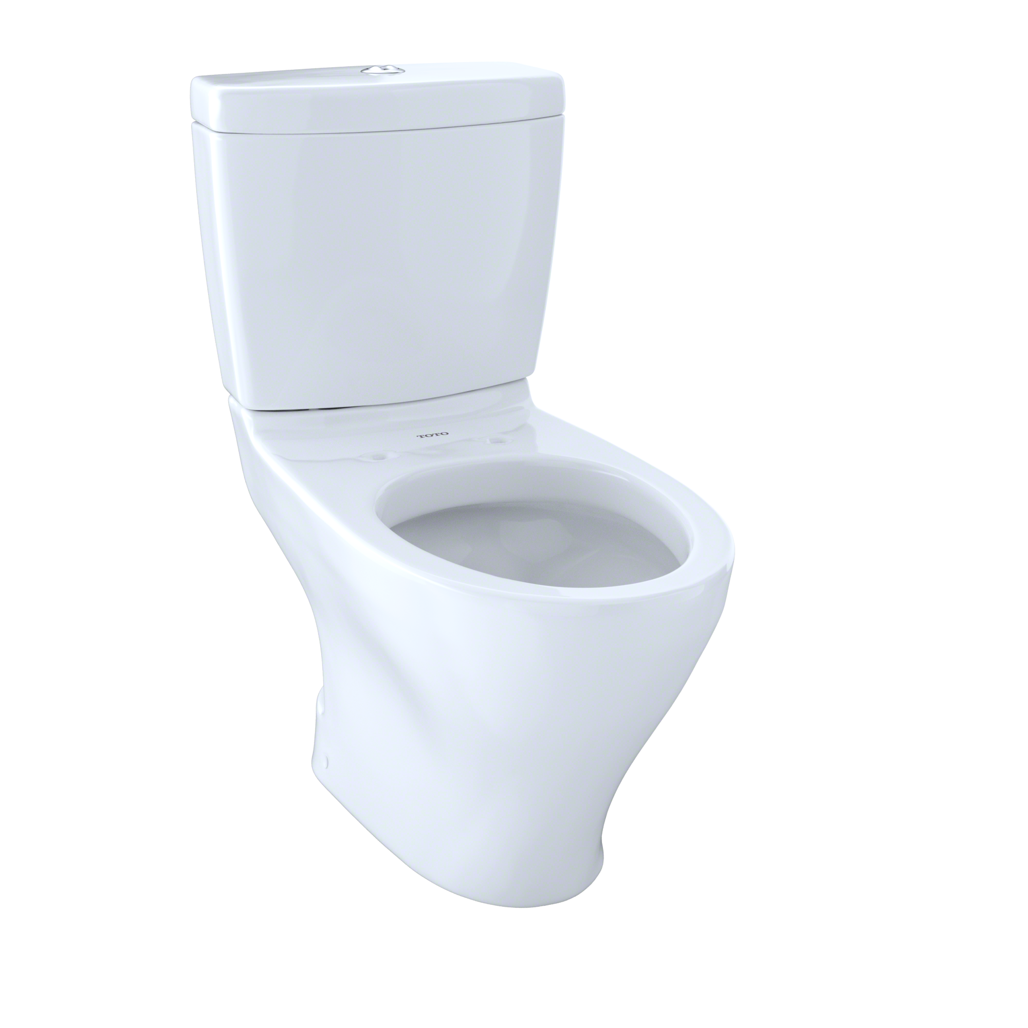 TOTO® Aquia® Two-Piece Elongated Dual-Max®, Dual Flush 1.6 and 0.9 GPF Universal Height Skirted Toilet for 10 Inch Rough-In, Cotton White - CST412MF.10#01