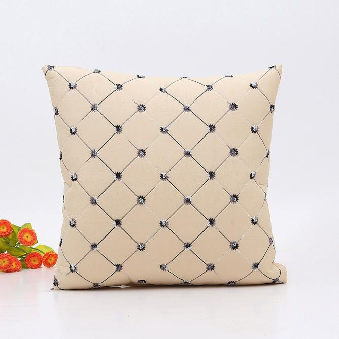 Home Sofa Bed Decor Plaids Throw Pillow Case Square Cushion Cover GY