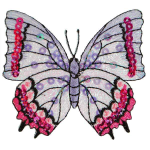Expo Int'l Iron-On Embroidered Sequin Butterfly Applique