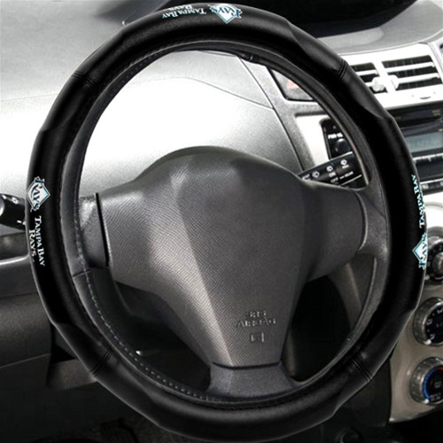 "MLB Tampa Bay Rays Steering Wheel Cover (Made to fit 14.5""-15.5"" steering wheels"