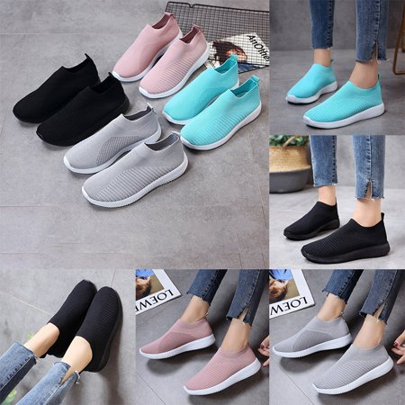 Women's Casual Running Walking Tennis Outdoor Shoes Lightweight Athletic Gym Slip on