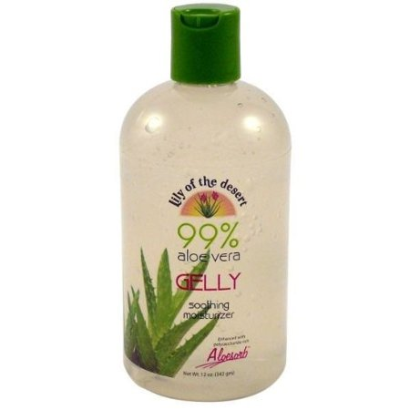 Lily Of The Desert 99% Aloe Vera Gelly Soothing Moisturizer, 12 (Lily Of The Desert Aloe Vera Gel Ingredients)