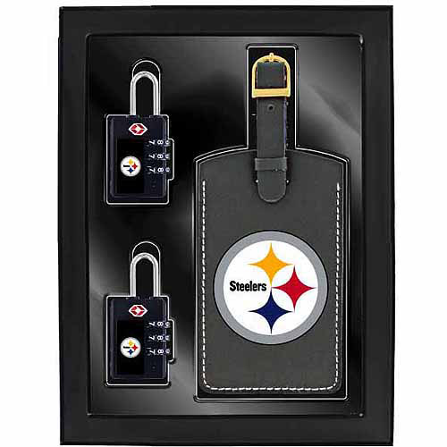 Aminco 3-Piece Luggage Security Gift Set, Steelers