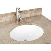 D'Vontz Ceramic Oval Undermount Bathroom Sink