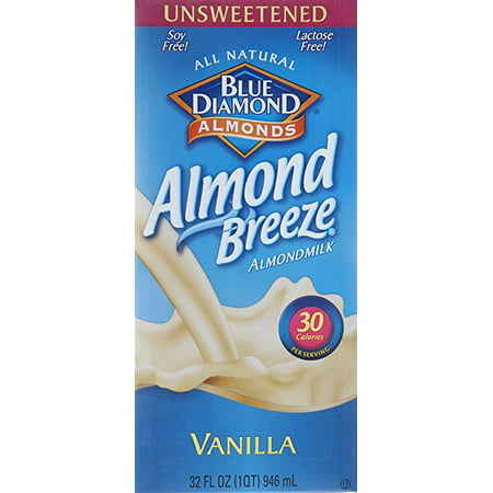 Blue Diamond Almond Breeze Milk, Vanilla, unsweetened, 32fl. oz- 6