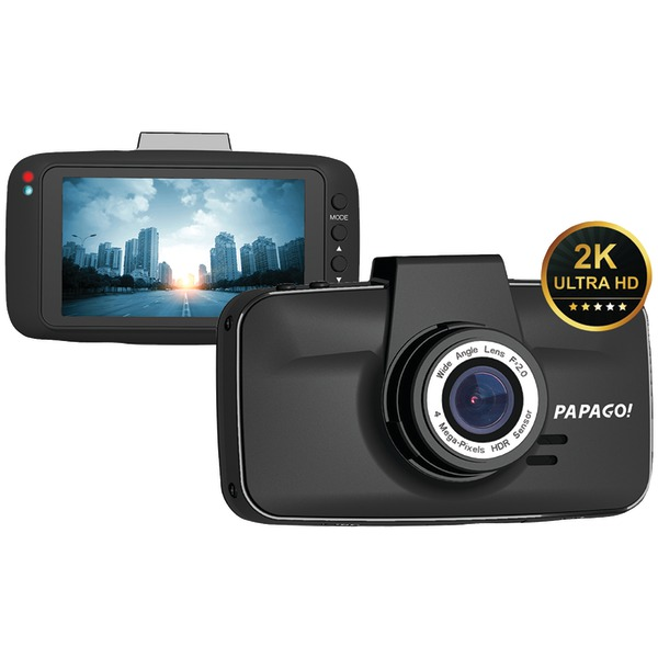PAPAGO GS520-8G GoSafe 520 Ultrawide HD 2K Resolution Dash Cam with 8GB microSD Card