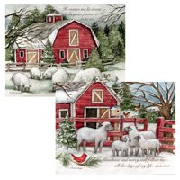 Lang Companies The Lord Is My Shepherd Assorted Boxed Christmas Cards for Heart Warming Greetings - 12 Cards and 12 Envelopes