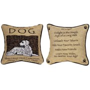 Manual Woodworkers & Weavers Advice from a Dog Throw Pillow