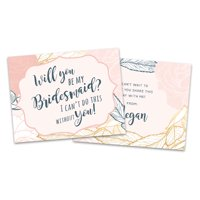 Personalized Pink Framed Will You Be My Bridesmaid Invitation