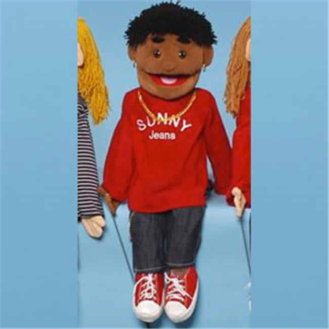 Sunny Toys GS4631 28 In. Ethnic Yarn-Haired Boy In Red, Full Body Puppet by Sunny Toys