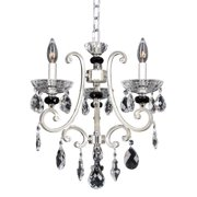 Allegri by Kalco Lighting Allegri Bedetti Silvertone Metal 3-light Chandelier with Hanging Crystal Accents