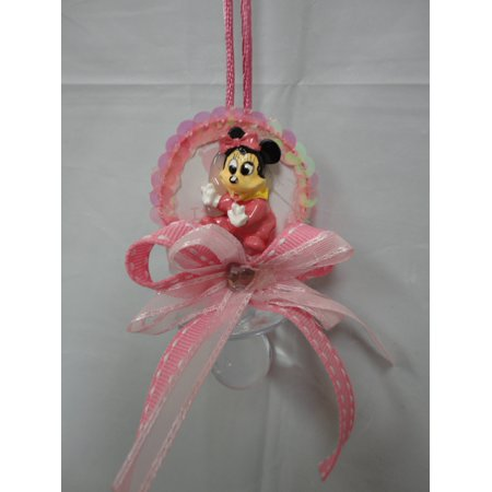 CHARMED Minnie Mouse Pacifier Necklaces Baby Shower Games Favors Prizes 12PC; - Baby Shower Prizes Ideas