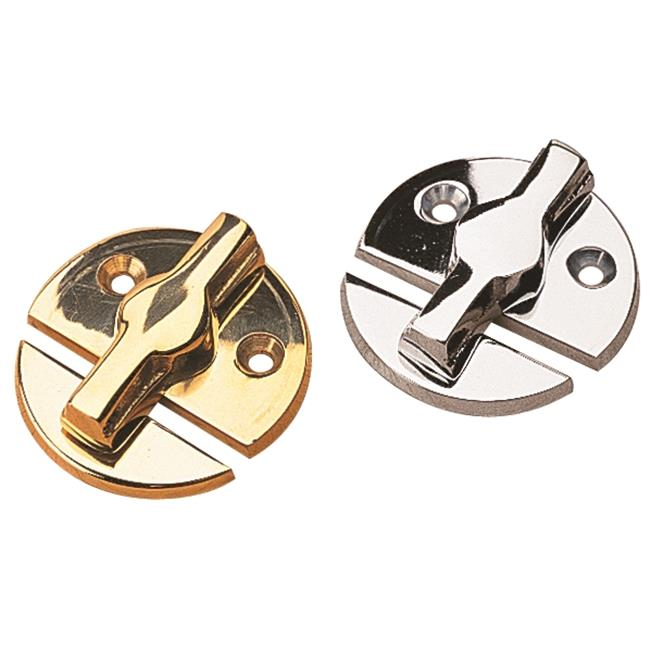 222360-1 Door Button Chrome Plated Brass
