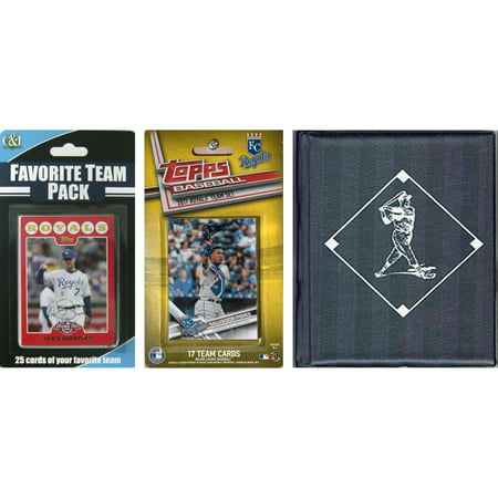 C & I Collectables MLB Kansas City Royals Licensed 2017 Topps Team Set and Favorite Player Trading Cards Plus Storage - Halloween 2017 New Album
